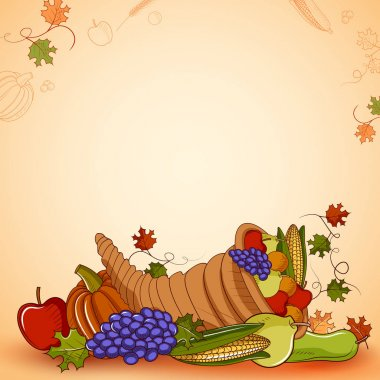 Happy Thanksgiving holiday festival background