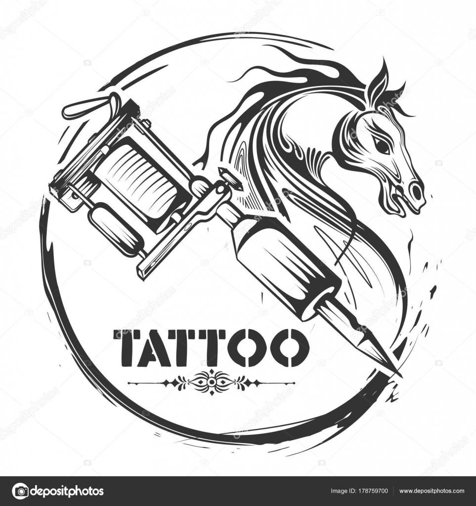 Horse Line Tattoo Tattoo Art Design Of Horse Line Art Style Stock Vector C Vectomart 178759700