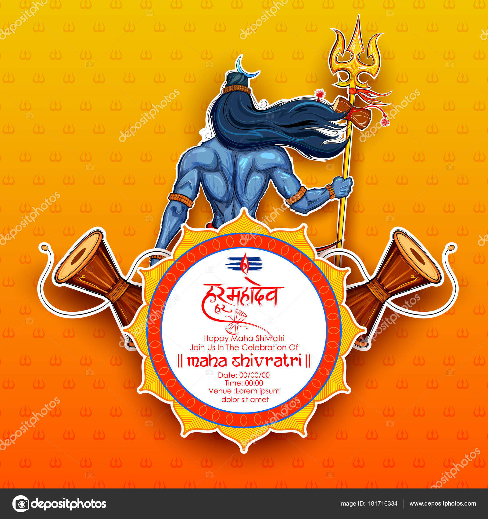 Lord shiva indian god of hindu for shivratri stock vector illustration of lord shiva indian god of hindu for shivratri with message hara hara mahadev meaning everyone is lord shiva vector by vectomart biocorpaavc Image collections