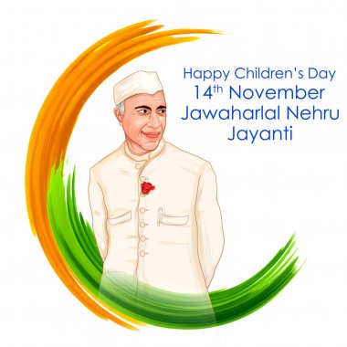 Indian background with Nation Hero and Freedom Fighter Jawaharlal Nehru Pride of India