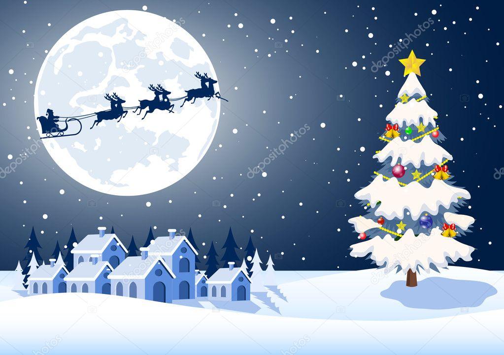 Paesaggi Di Natale.Illustrazione Di Paesaggi Natale Illustrazione Di