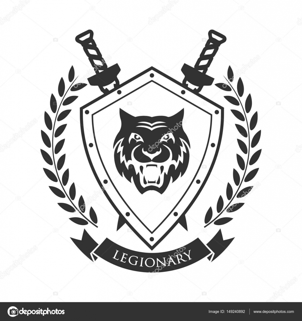 Military Symbol Legionarys Badge Stock Vector Matc 149240892