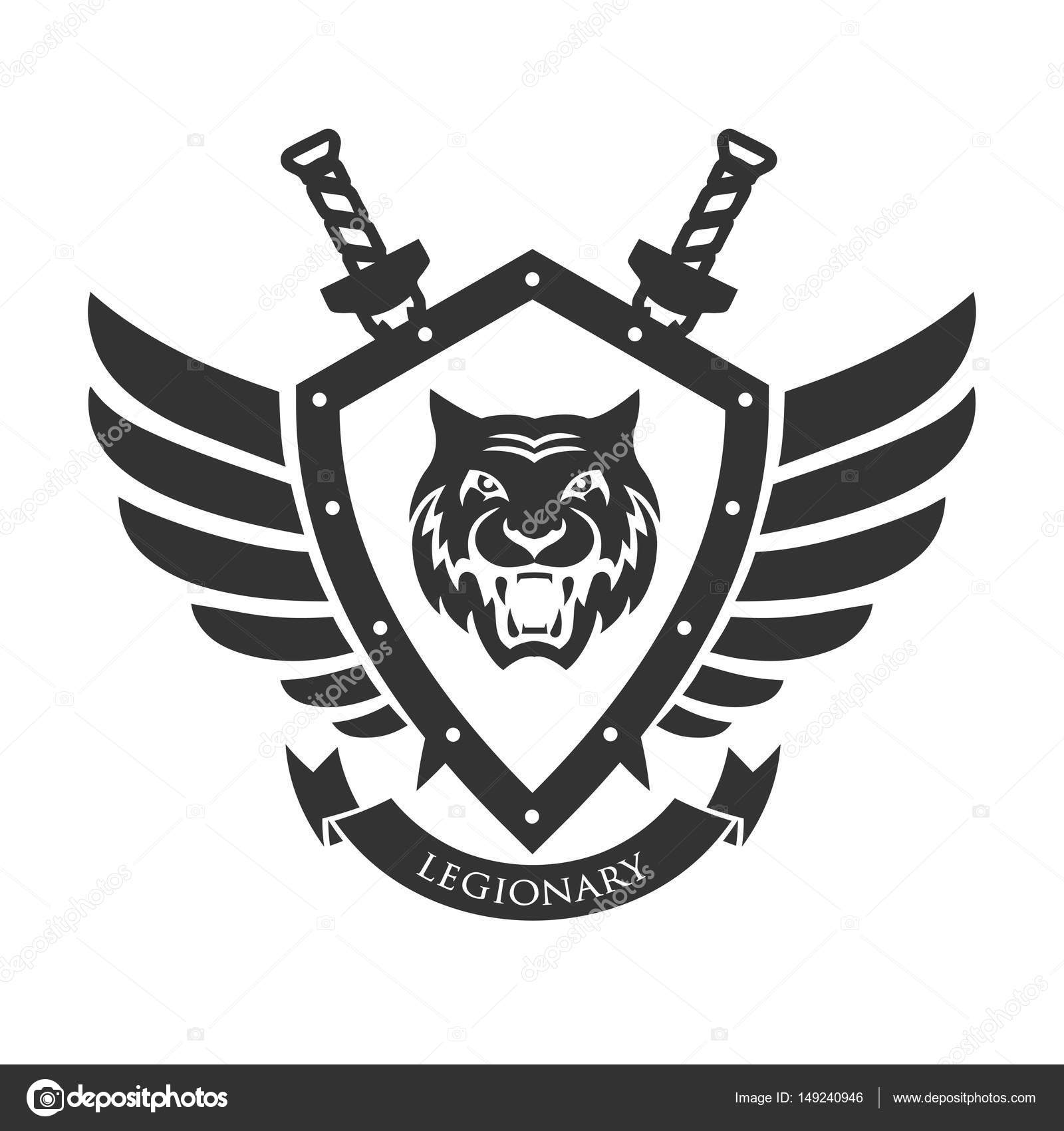 Military Symbol Legionarys Badge Stock Vector Matc 149240946