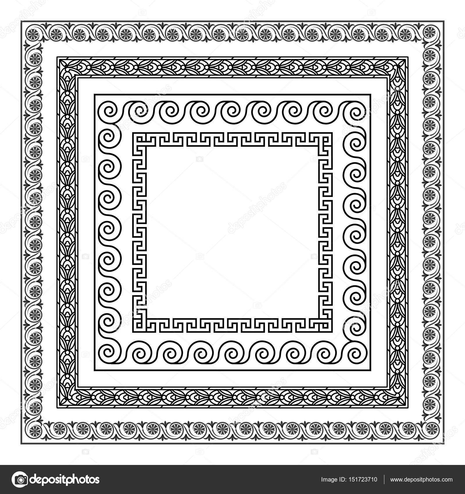Ornamento griego. marcos de estilo antiguo — Vector de stock © matc ...