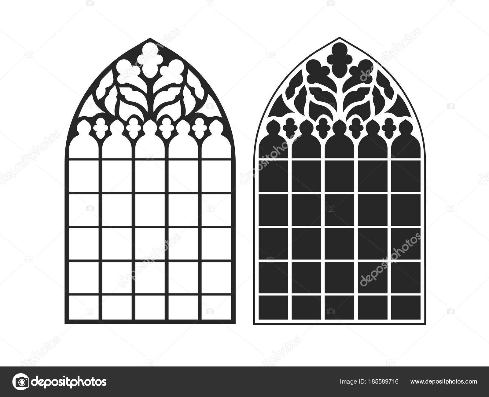 On The Image Presented Gothic Windows Vintage Frames Church Stained Glass Vector By Matc
