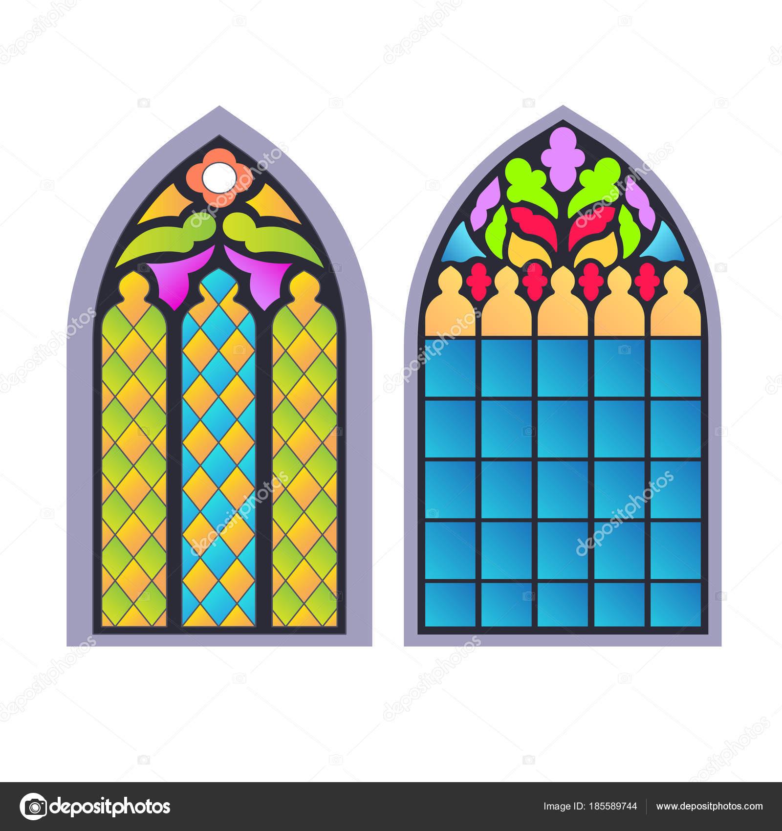 Finestre gotiche cornici d 39 epoca vetrate di chiesa - Finestre d epoca ...
