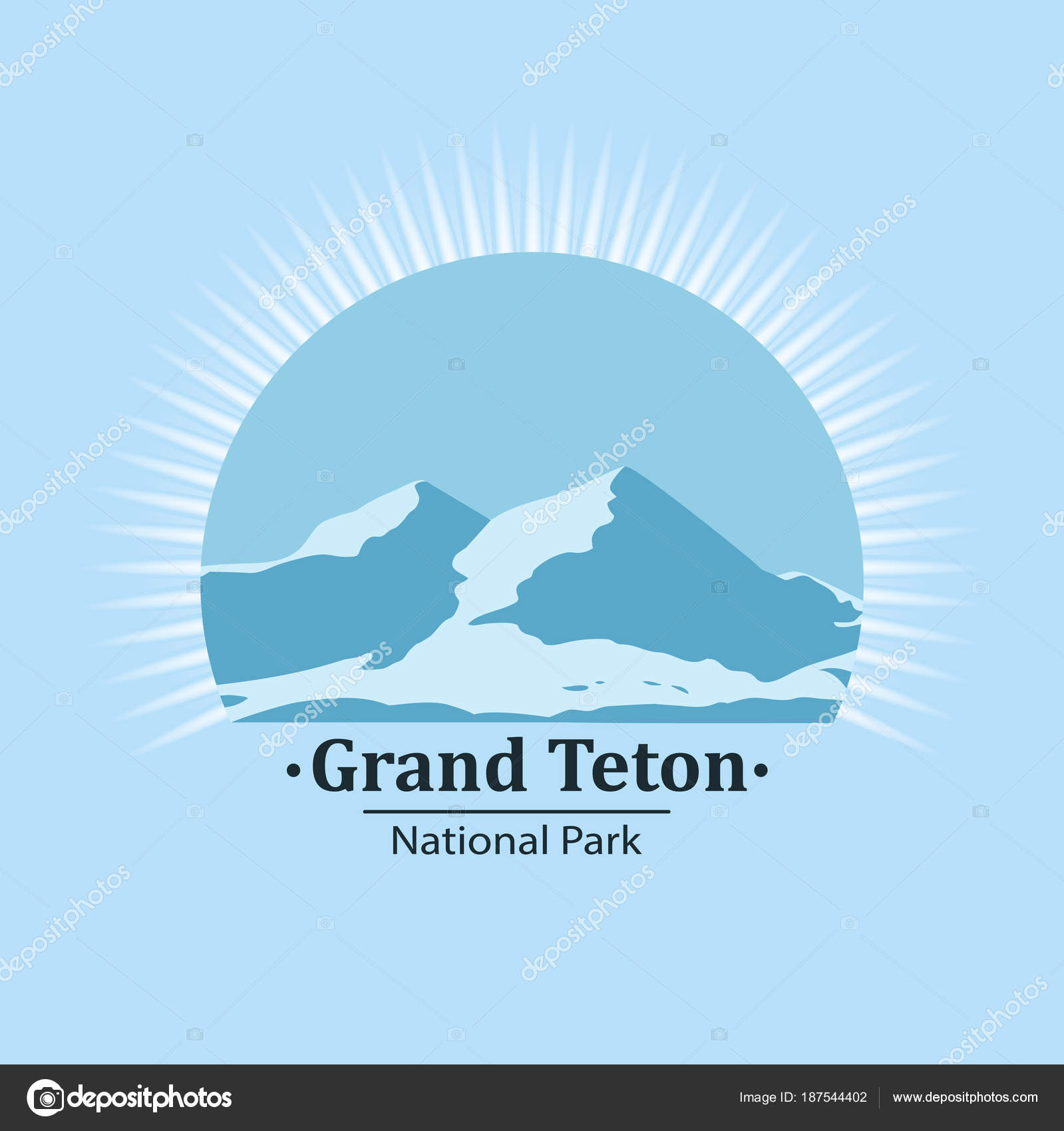 National Park Symbol Ctor Icon Stock Vector Matc 187544402