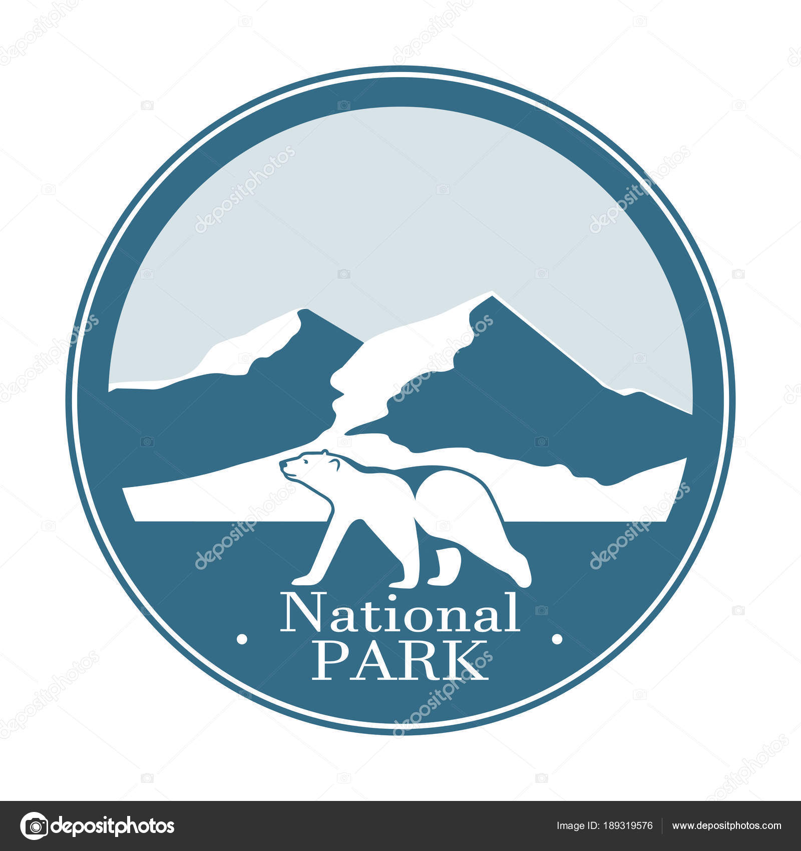 National Park Symbol Ctor Icon Stock Vector Matc 189319576