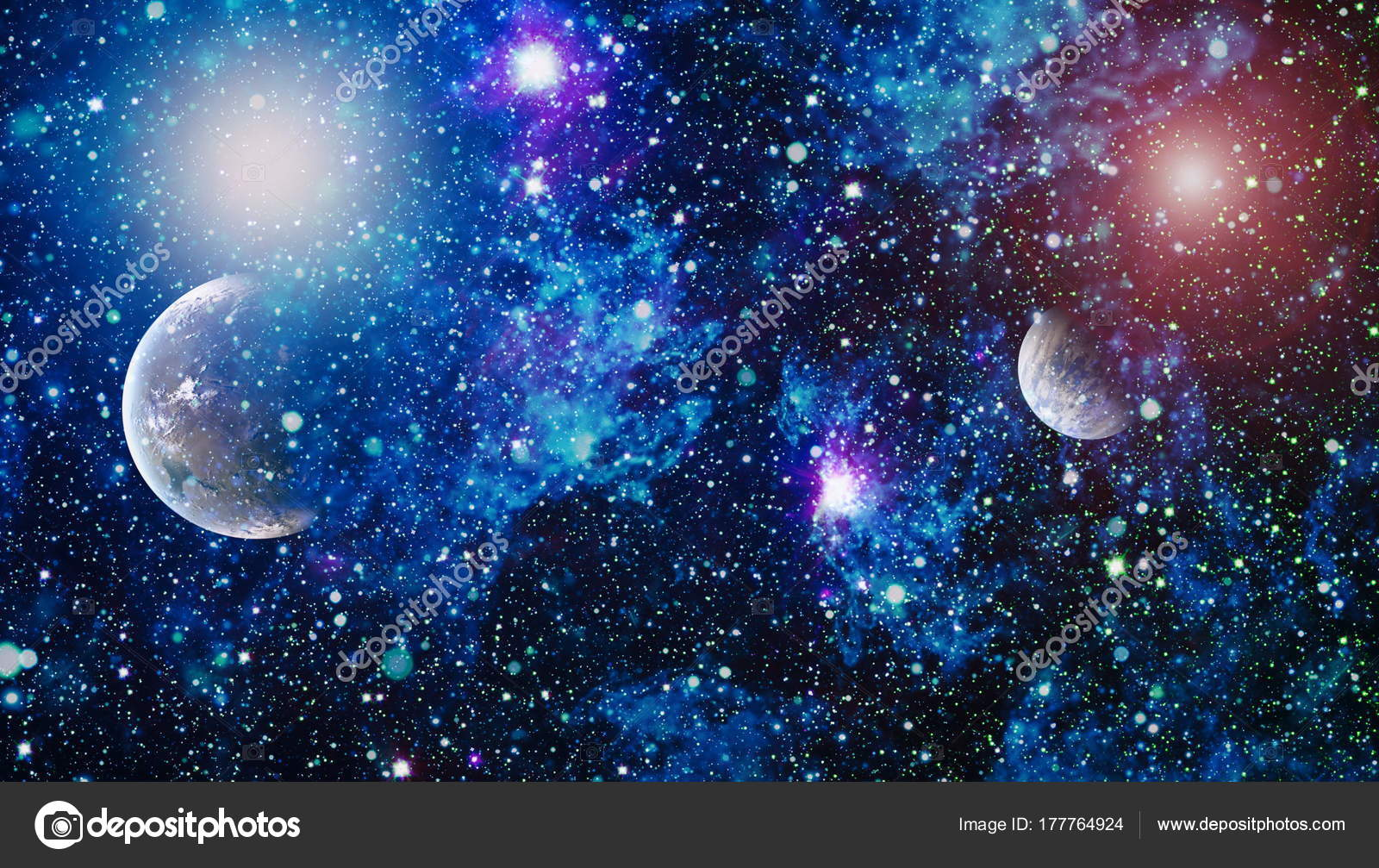 Planets Stars And Galaxies In Outer Space Showing The Beauty Of Exploration Elements