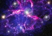 planety, hvězdy a galaxie ve vesmíru ukazuje krásu vesmíru. Elementy jsou podle Nasa