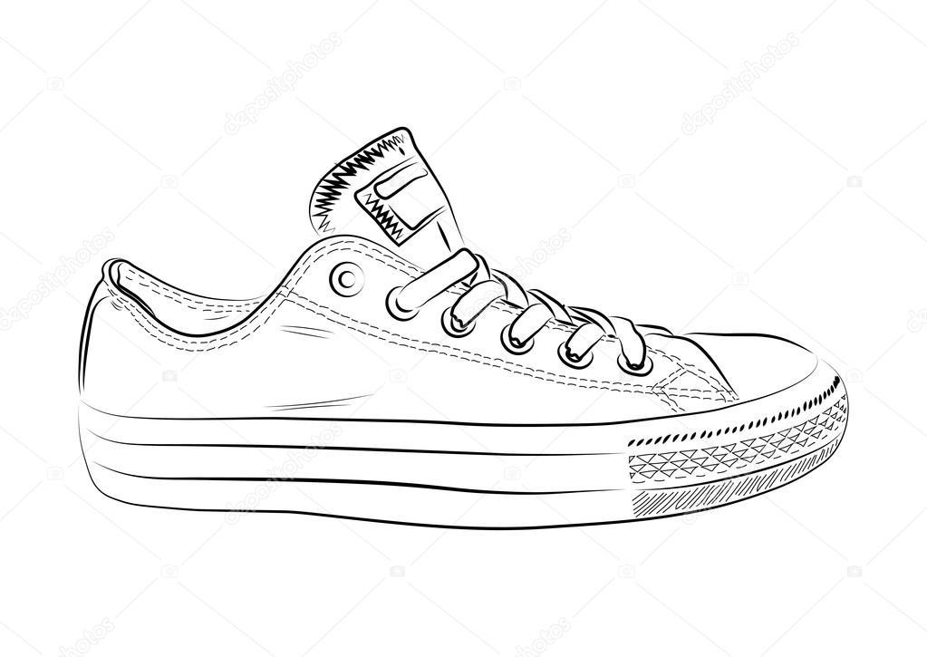 Dibujando Deporte ZapatillasDe Dibujado Mano A dhrtQCsx