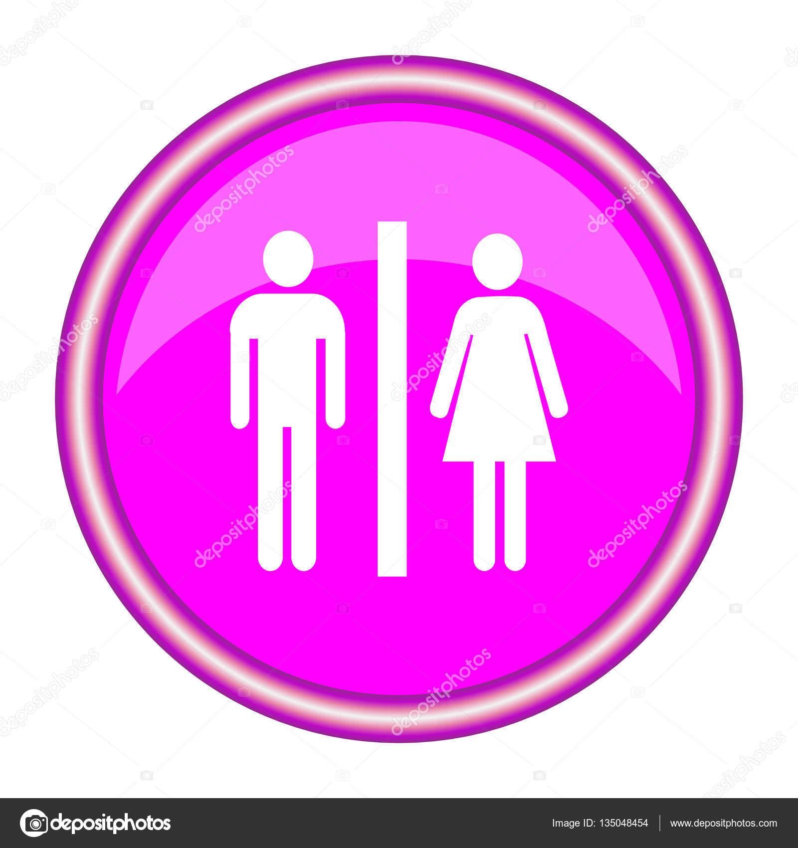 Cartello WC uomo e donna — Vettoriali Stock © natalipopova #135048454