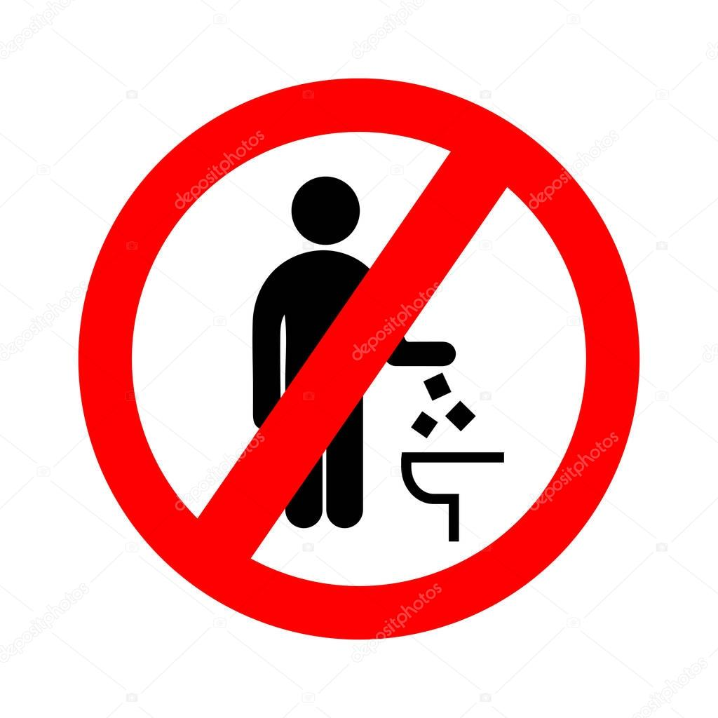 No Se Tire En El Icono Del Inodoro Mantener La Se Al Limpia  ~ Como Limpiar El Fondo Del Inodoro