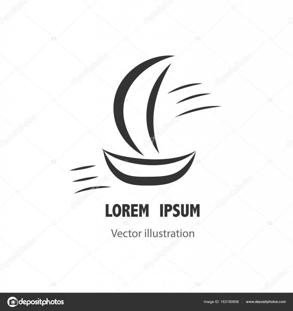Yacht vector logo templates. Yachts silhouettes. Vector line yachts ...