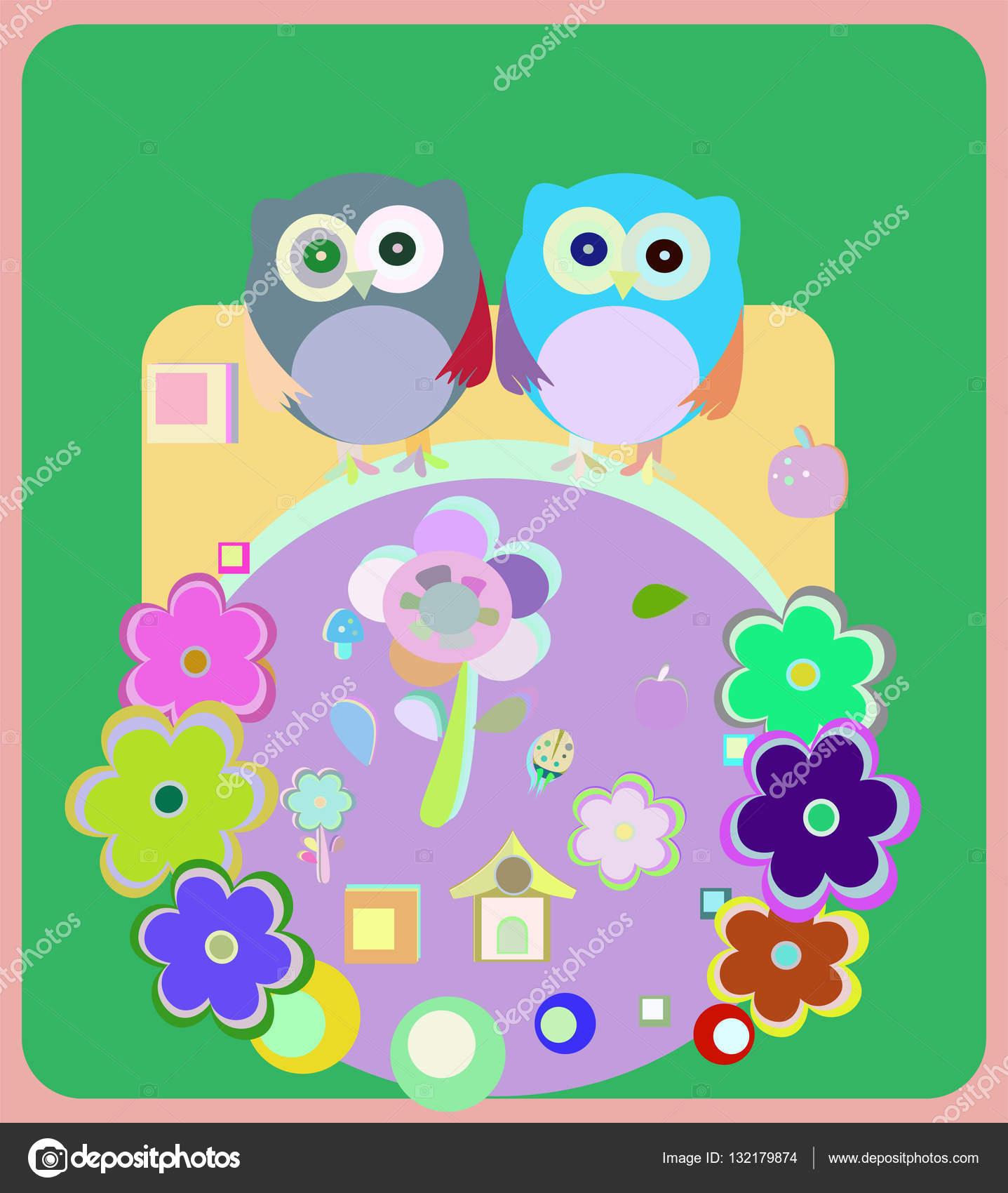 Imágenes Buhos Para Bebes Tarjeta De Invitación Familiar
