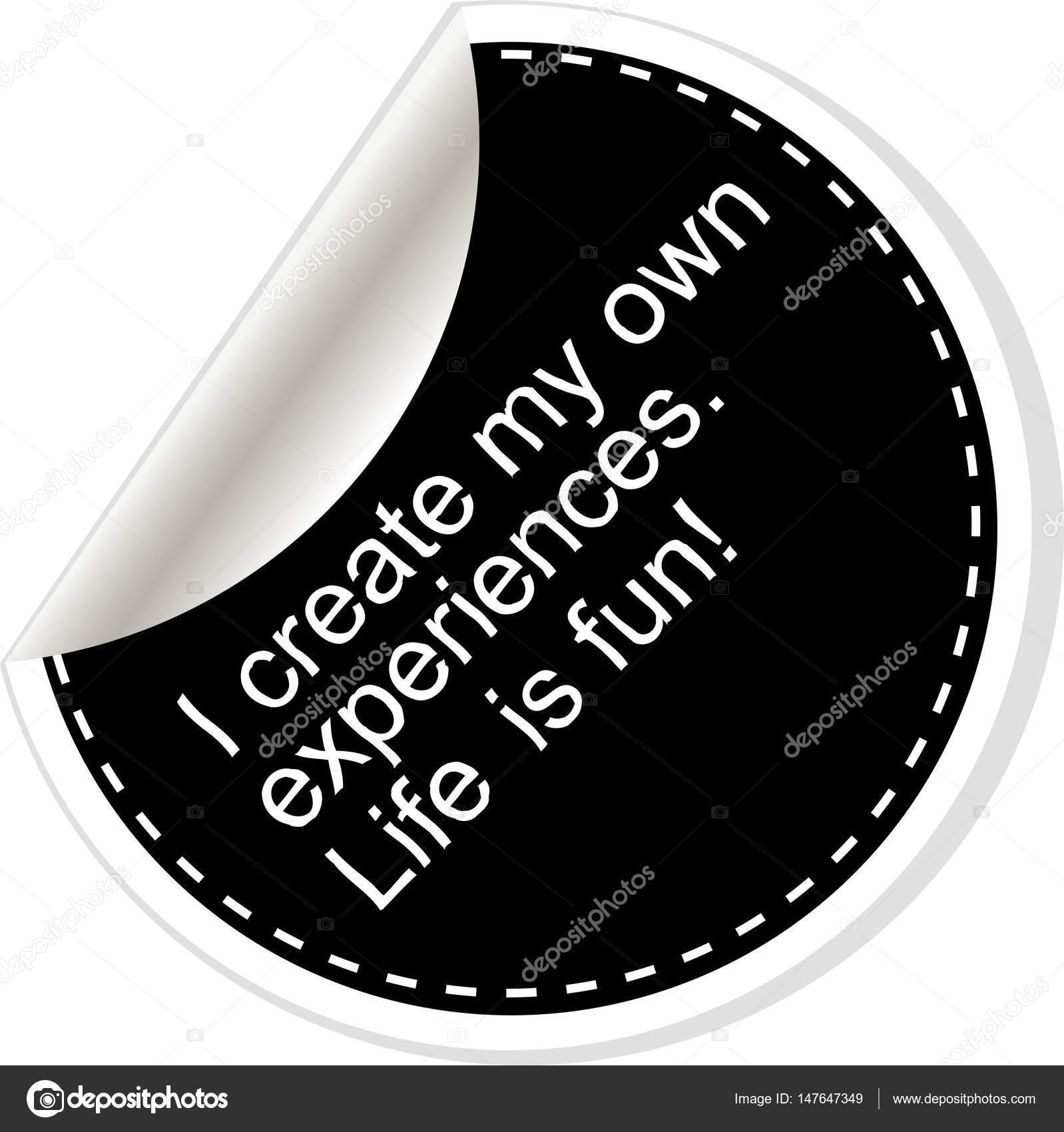 Crear mis propias experiencias. Comillas, coma, nota, mensaje ...