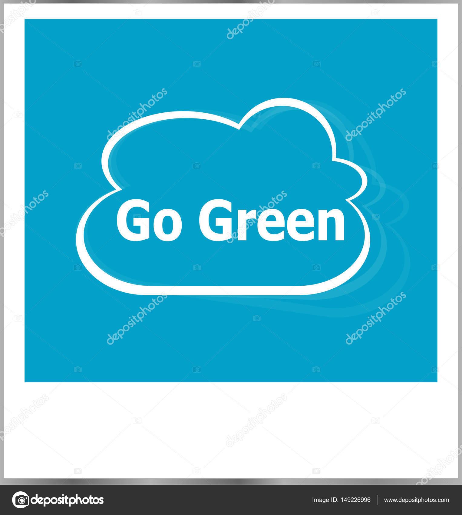 marco de fotos con go palabras verdes aislados en blanco — Fotos de ...