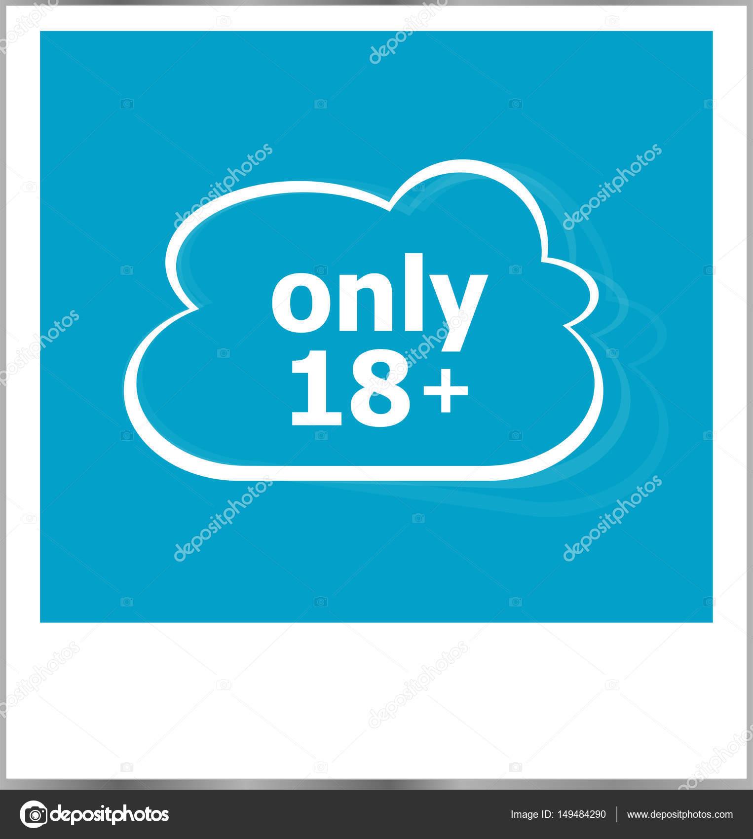 sólo 18 plus la palabra concepto, marco aislado en blanco — Fotos de ...