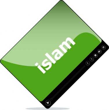Video player for web, islam word on it