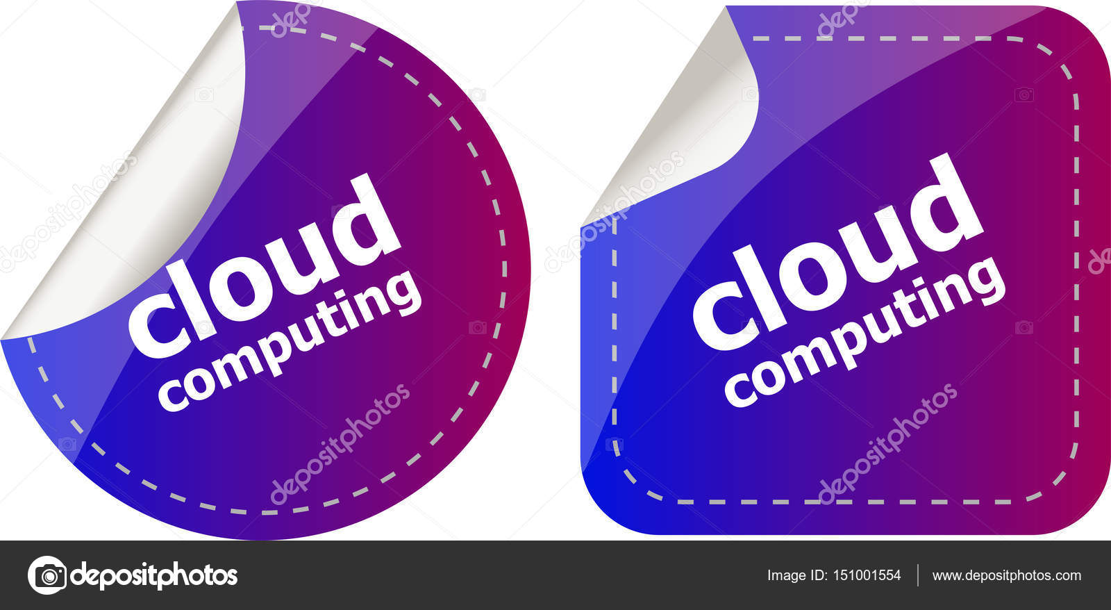 Stylish cloud speech bubble, cloud computing concept — Stock