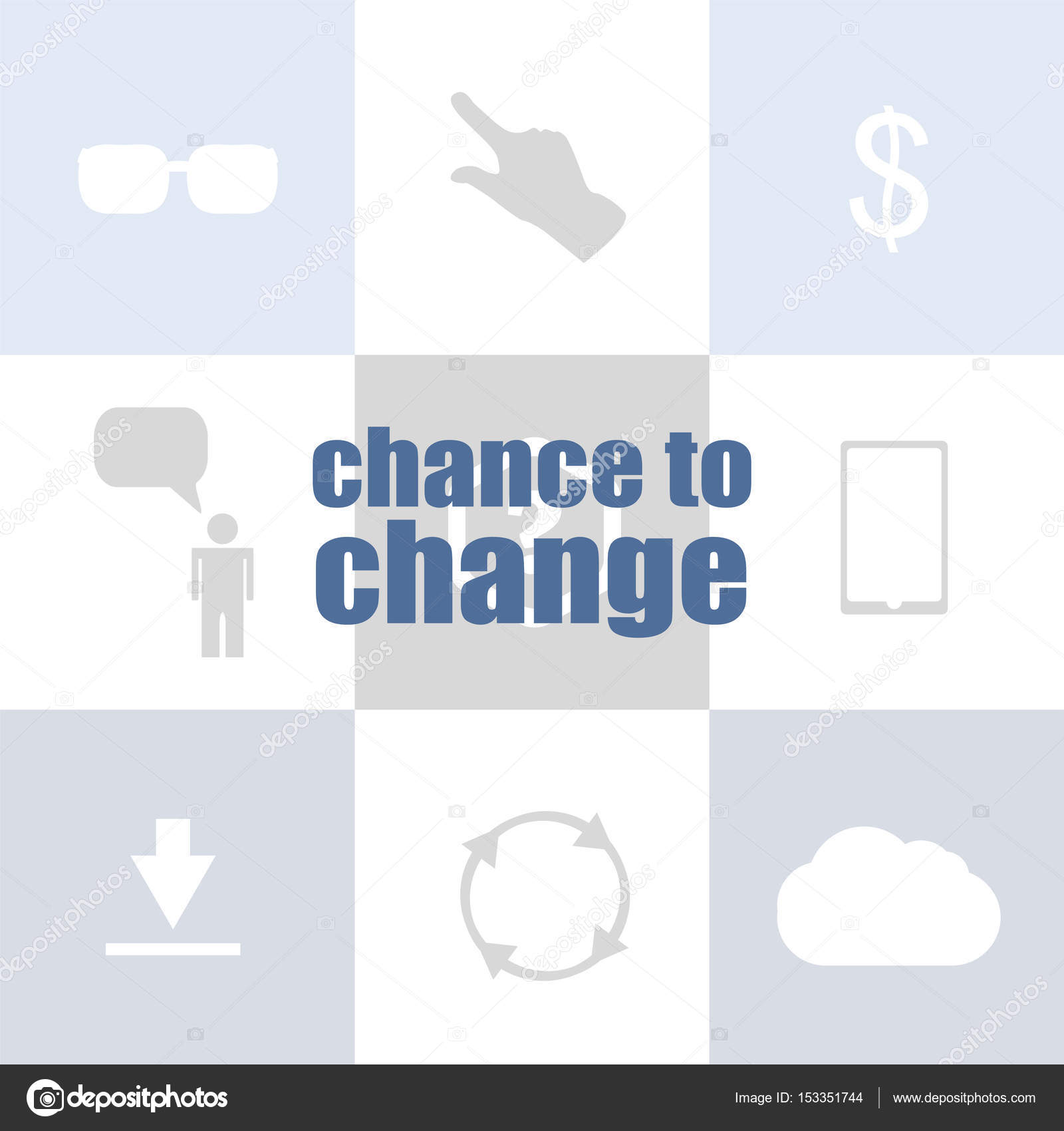 business concept text chance to change infographic template for
