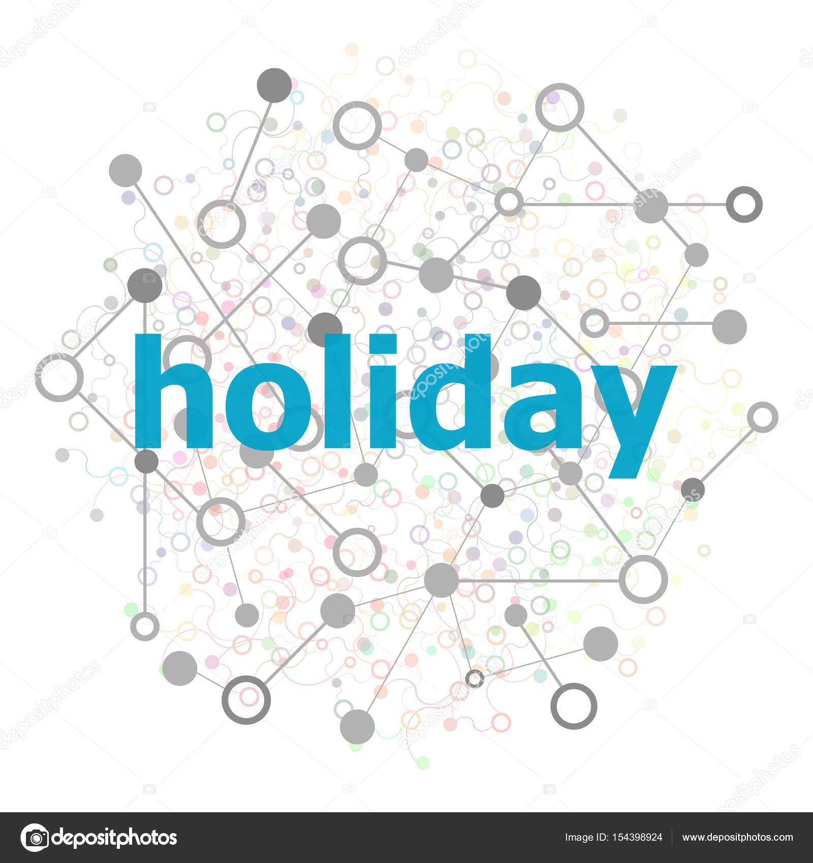Text Holiday. Events concept . Stylized low poly concept with wired ...