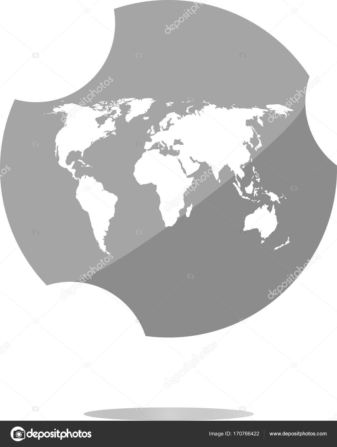 Globe icon earth world map on web button stock photo fotoscool globe icon earth world map on web button stock photo gumiabroncs Gallery