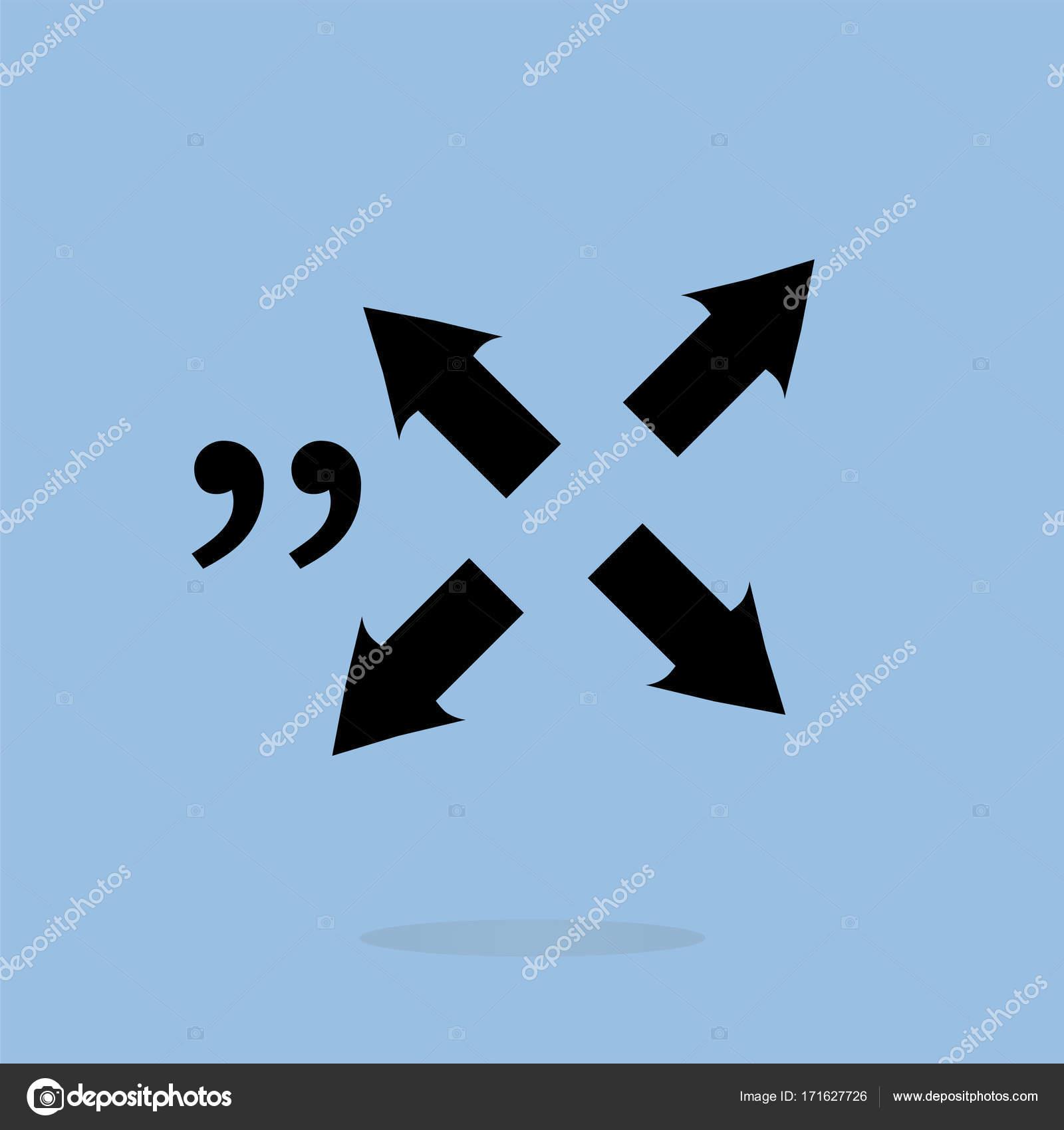 Anführungszeichen Sprechblase Schild Symbol Zu Zitieren