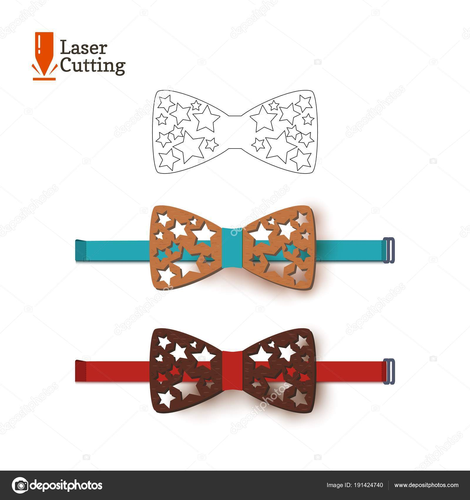 laser cut bow tie template vector silhouette for cutting a bow tie