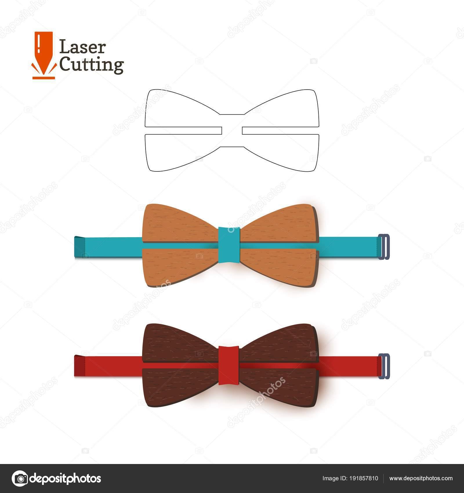 Plantilla de la corbata de lazo del corte del laser for Cartamodello per papillon
