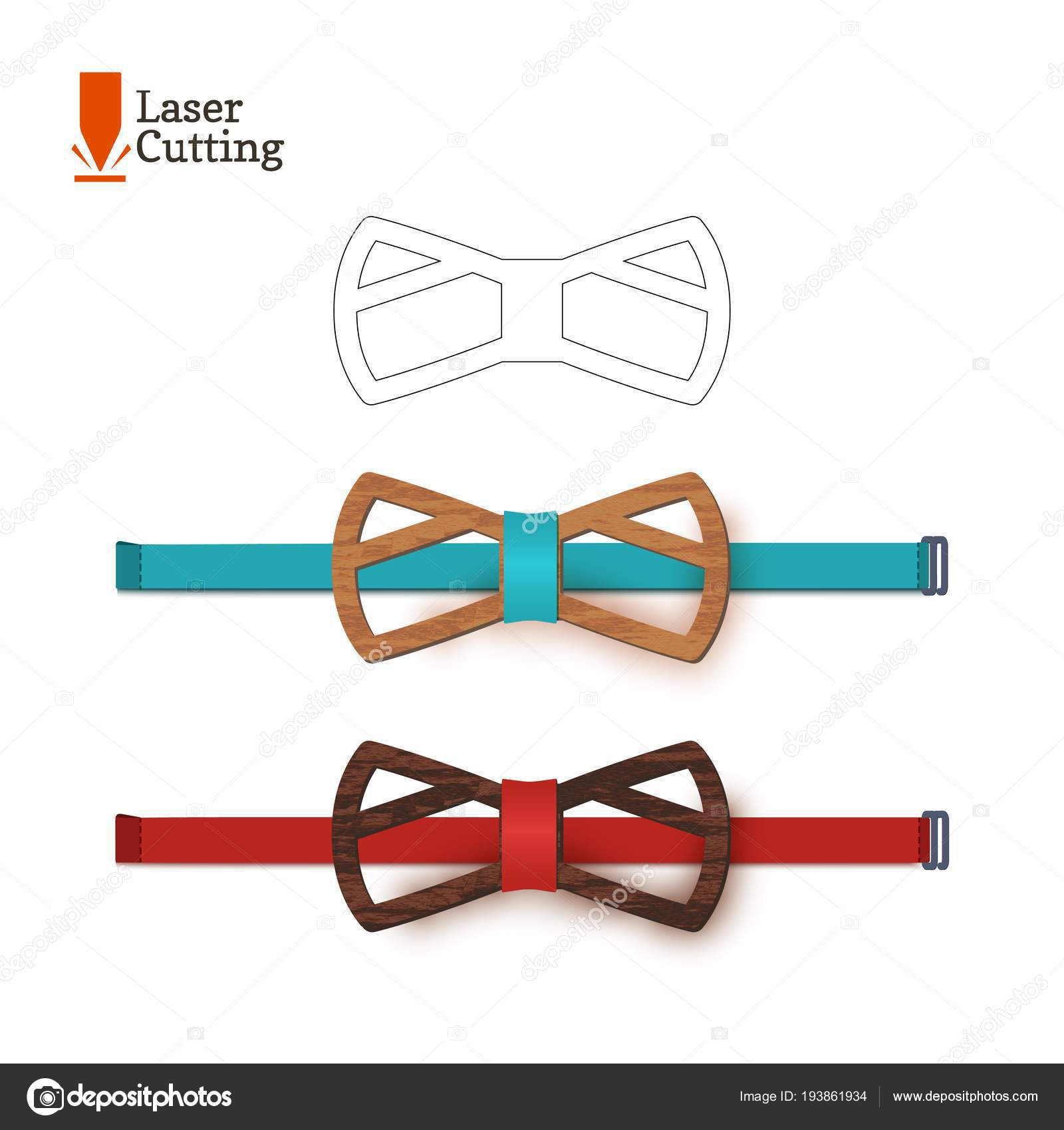 Laser Cut Bow Tie Template For DIY Vector Silhouette With Cute Cat Ears Cutting A On Cnc Lathe Made Of Wood Metal Plastic