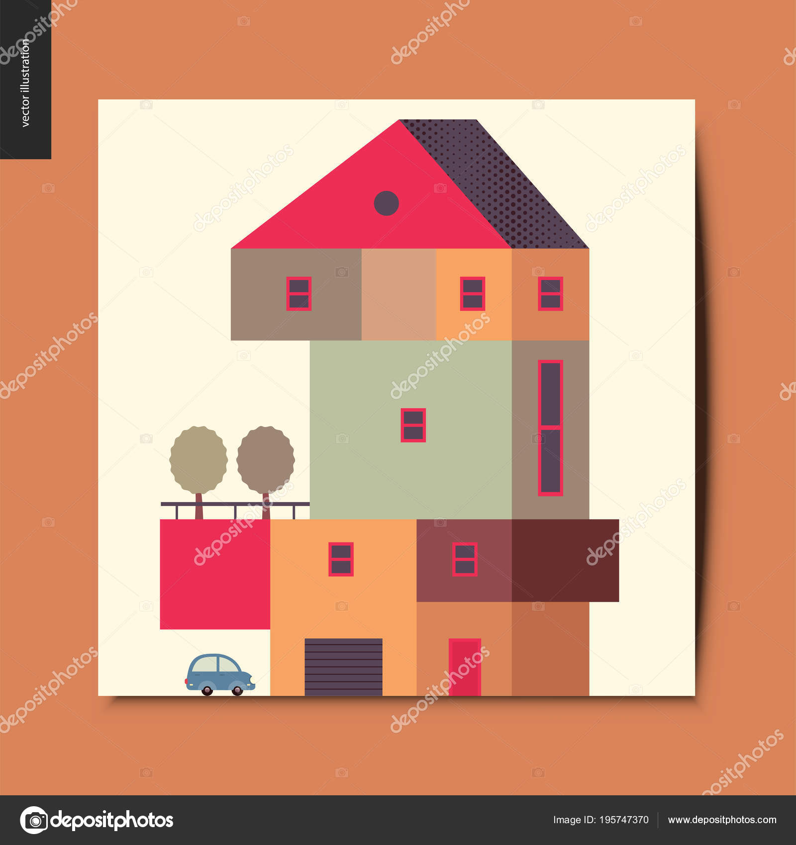 Einfache Dinge - Haus — Stockvektor © grivina #195747370