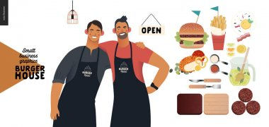 Burger house - small business graphics - owners