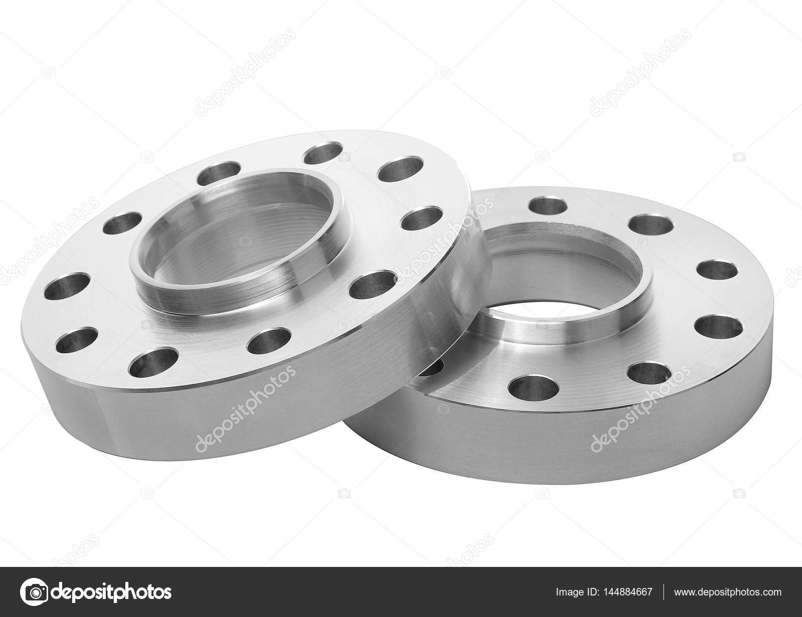Paar Alu-Tuning Autoteile Silber nach Maß-Entfernungen — Stockfoto ...