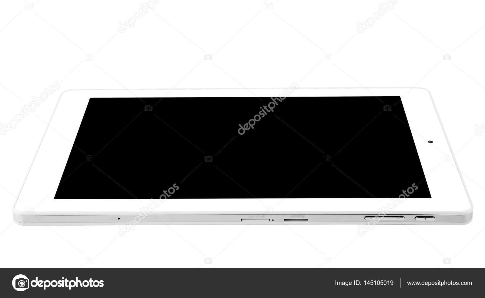 Tablet white rectangle front flat right side port — Stock