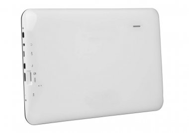 Tablet texture black with white back button port