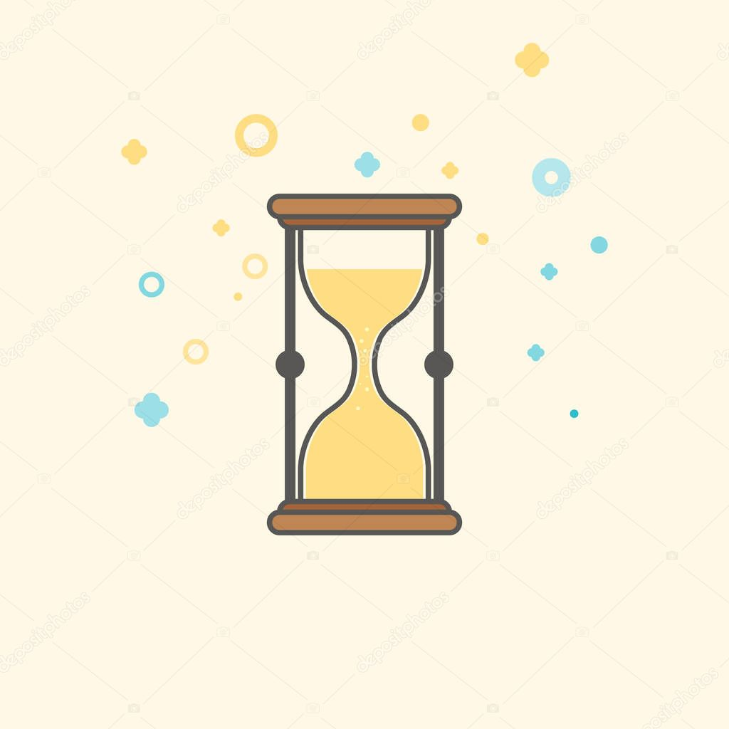 Simple Businessand Finance Vector FlatIcon  Classic hourglass as