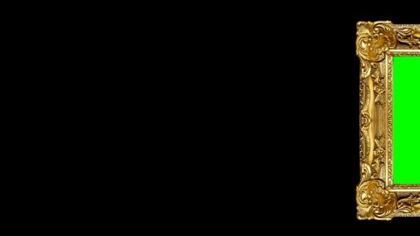 Bewegung eines Rahmens auf einem schwarzen