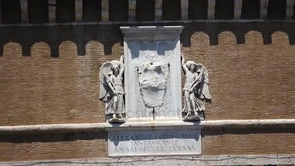 Saint Angel Castle and Saint Angel bridge in Rome