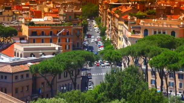 view of the street of via delle fosse Castelo in Rome