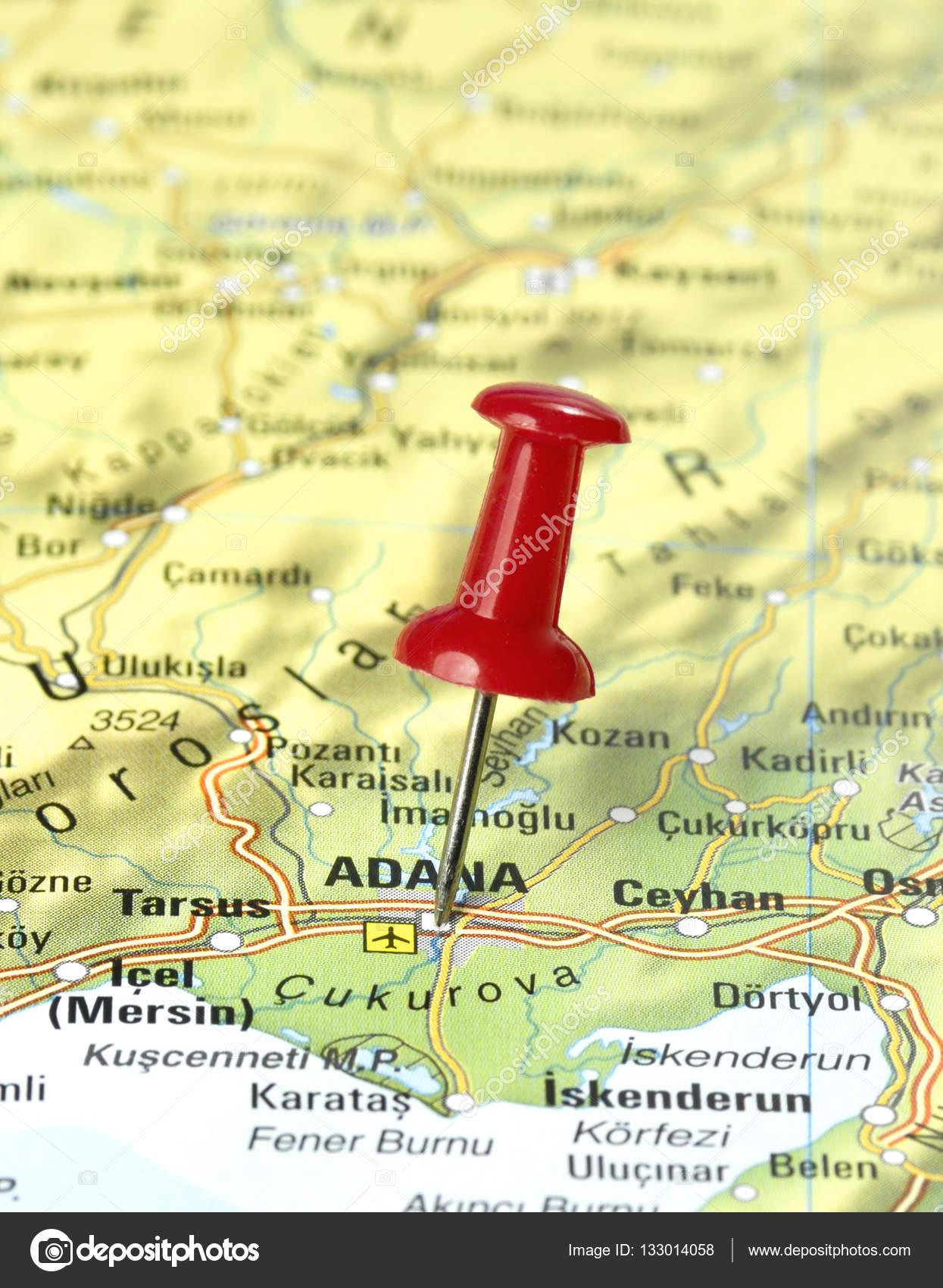 Map of Turkey with pin set on Adana Stock Photo Eivaisla 133014058