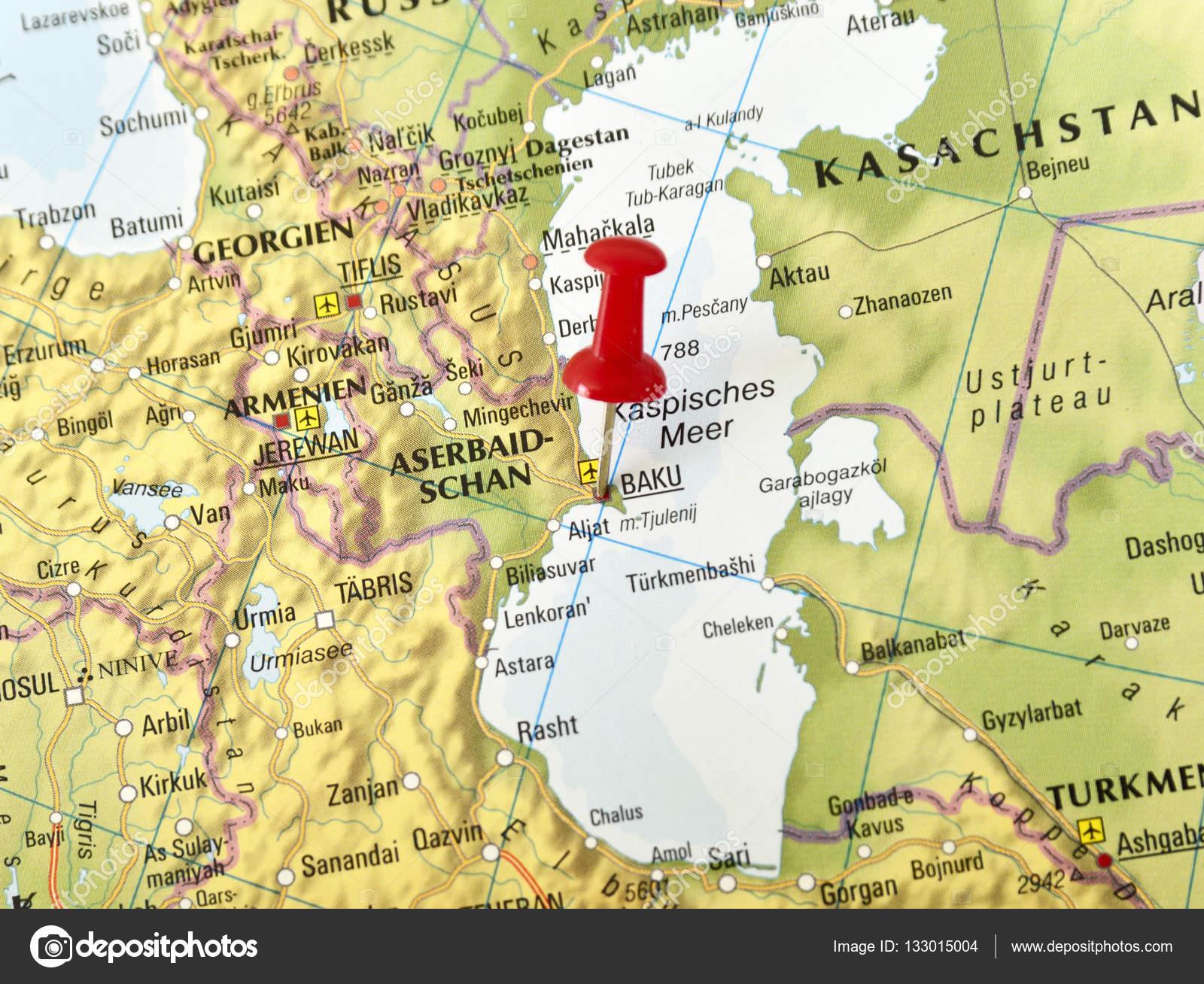 Baku Aserbaidschan Karte.Mit Pin Setzen Auf Baku Aserbaidschan Stockfoto C Eivaisla