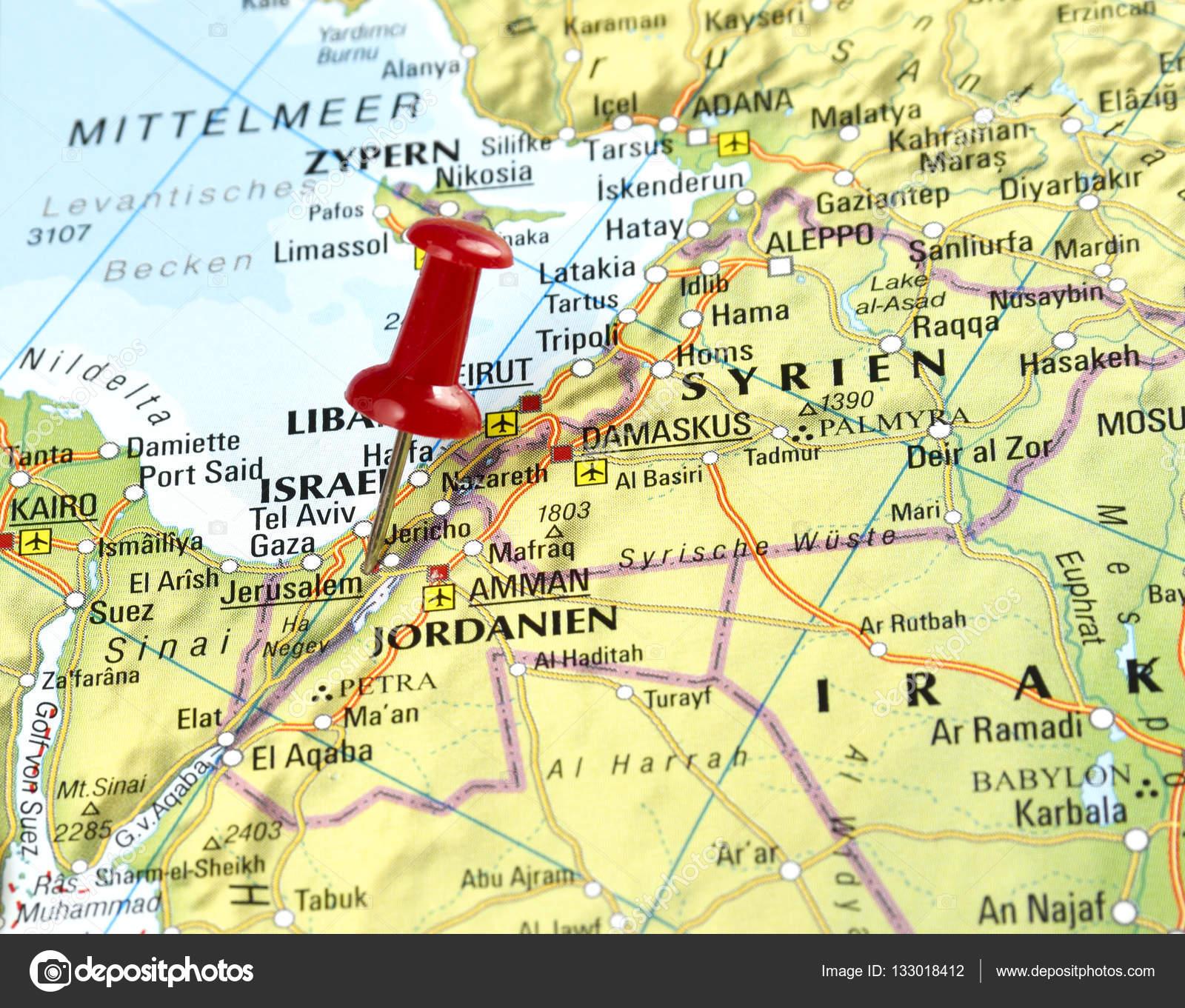 Israel With Pin Set On Jerusalem Stock Photo C Eivaisla 133018412