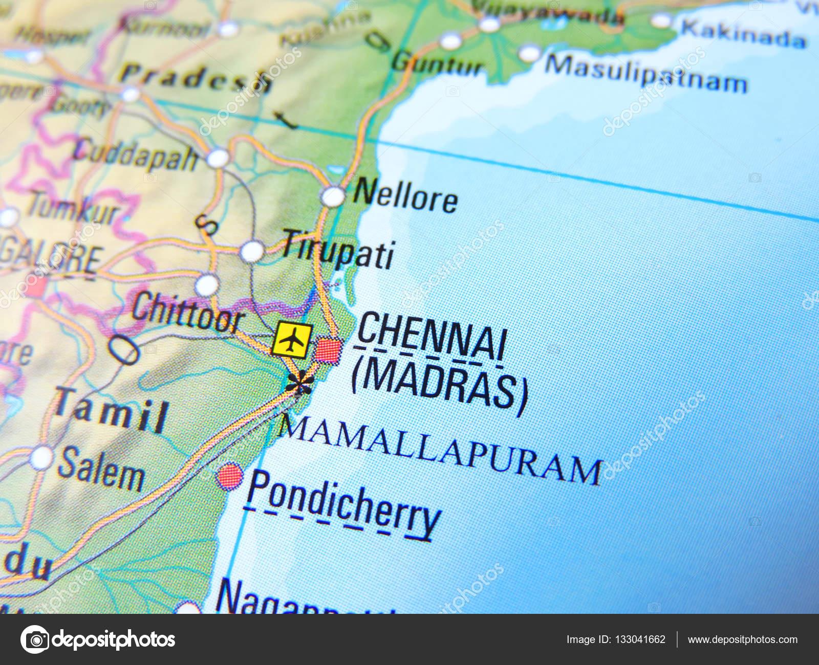 Madras India Map.India With Focus On Madras Stock Photo C Eivaisla 133041662