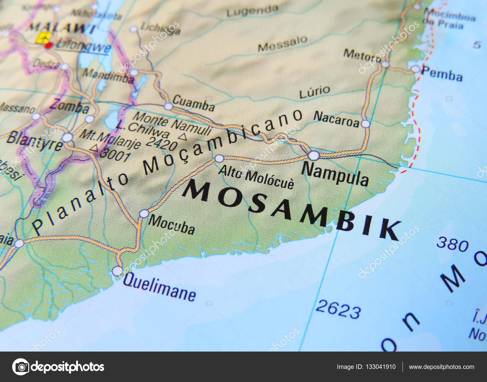 Mosambik Karte.Karte Von Mosambik Stockfoto Eivaisla 133041910