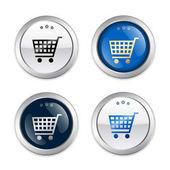 Prodej těsnění nebo ikony s nákupní košík symbolu