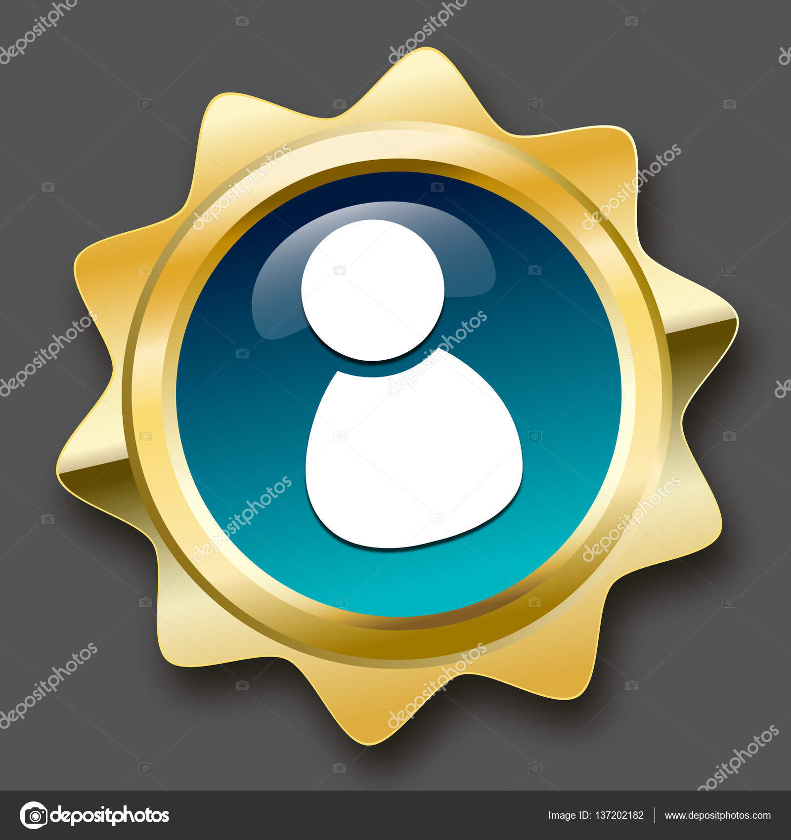 Admin Or best service seal or icon with admin or person symbol