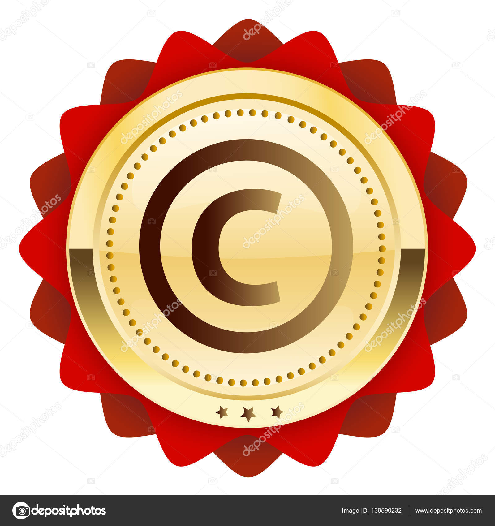 Copyright Seal Or Icon With Copyright Symbol Stock Vector