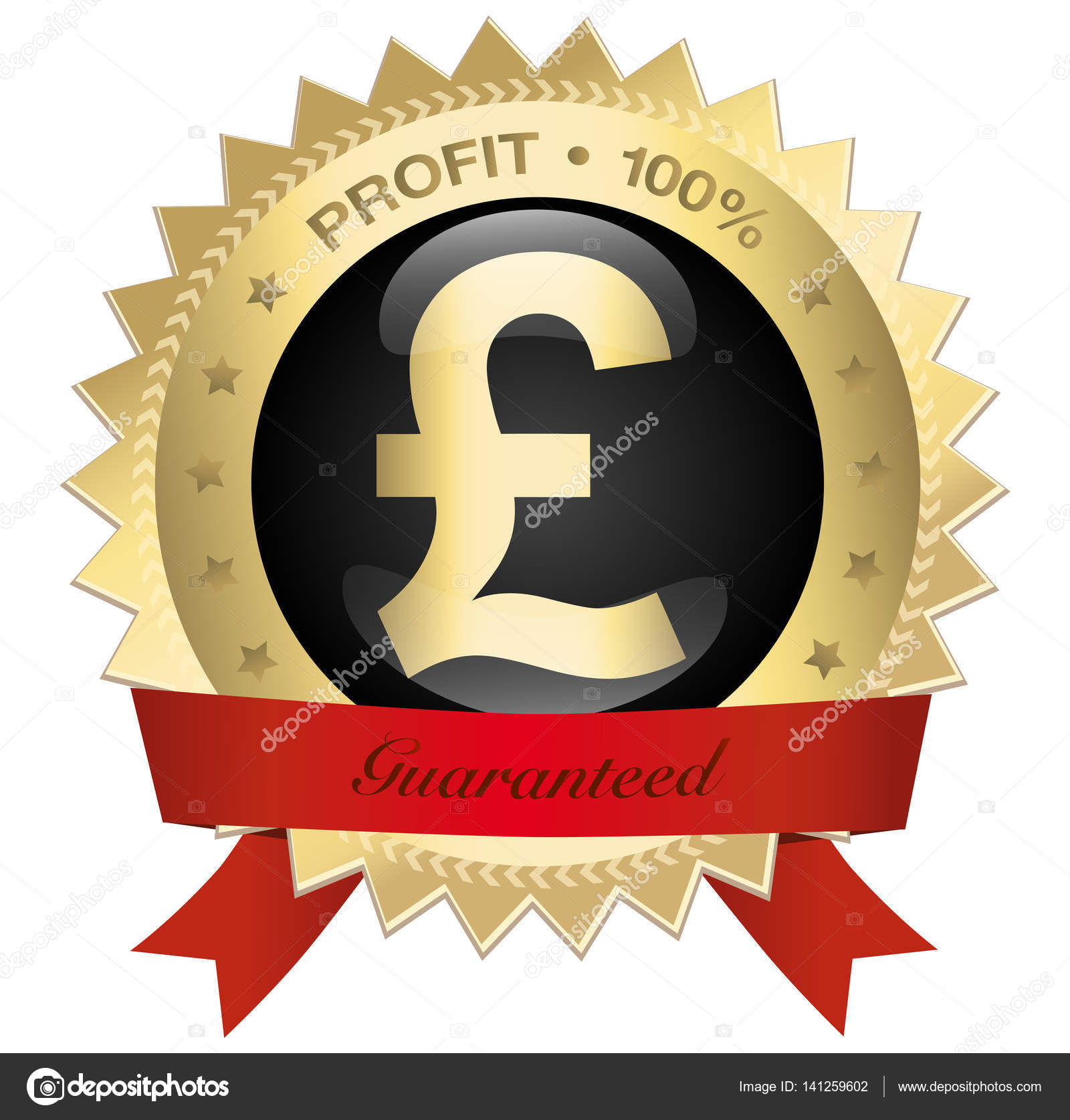 Profit 100 seal or icon with pound sterling symbol stock vector profit 100 seal or icon with pound sterling symbol stock vector buycottarizona Image collections