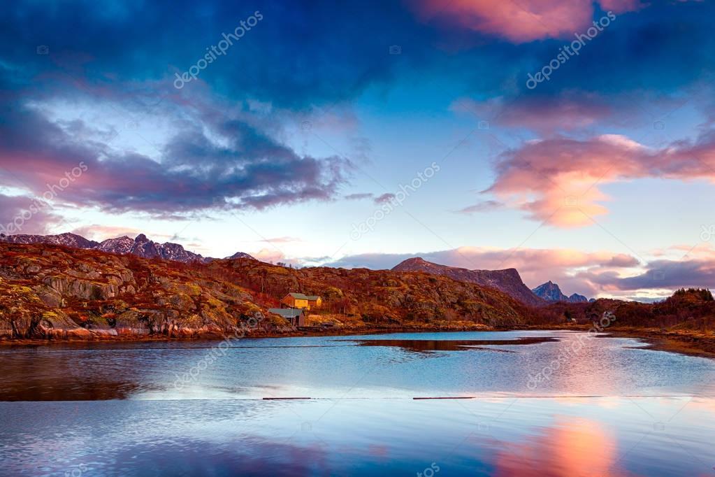 Фотообои Красивый закат пейзаж
